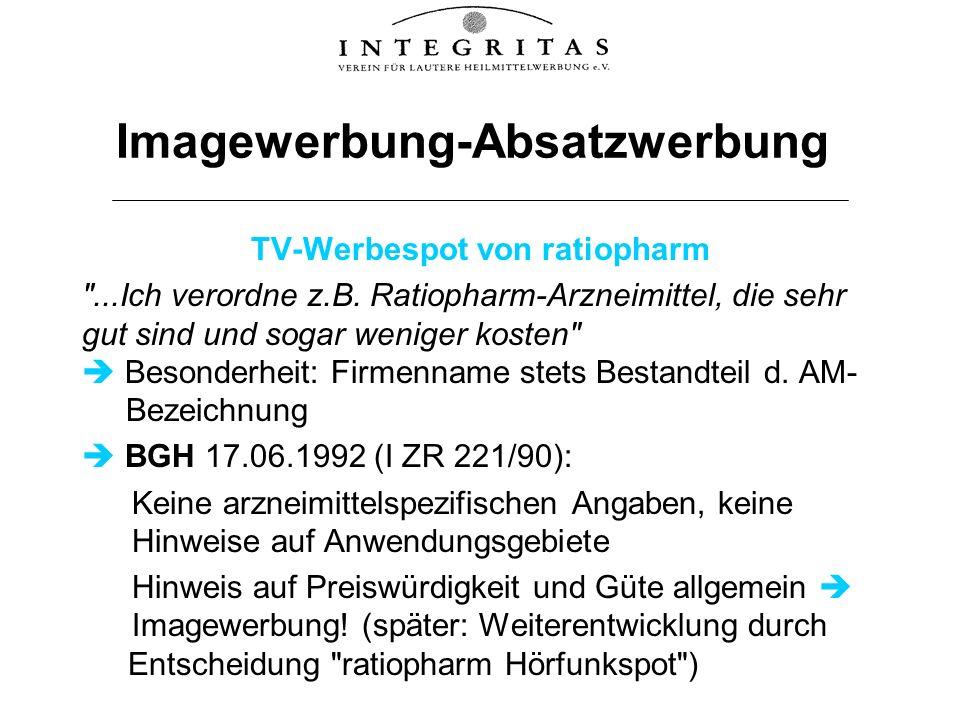 Imagewerbung-Absatzwerbung