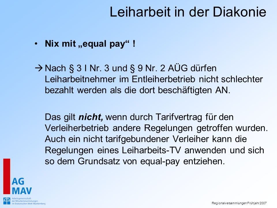 "Nix mit ""equal pay !"