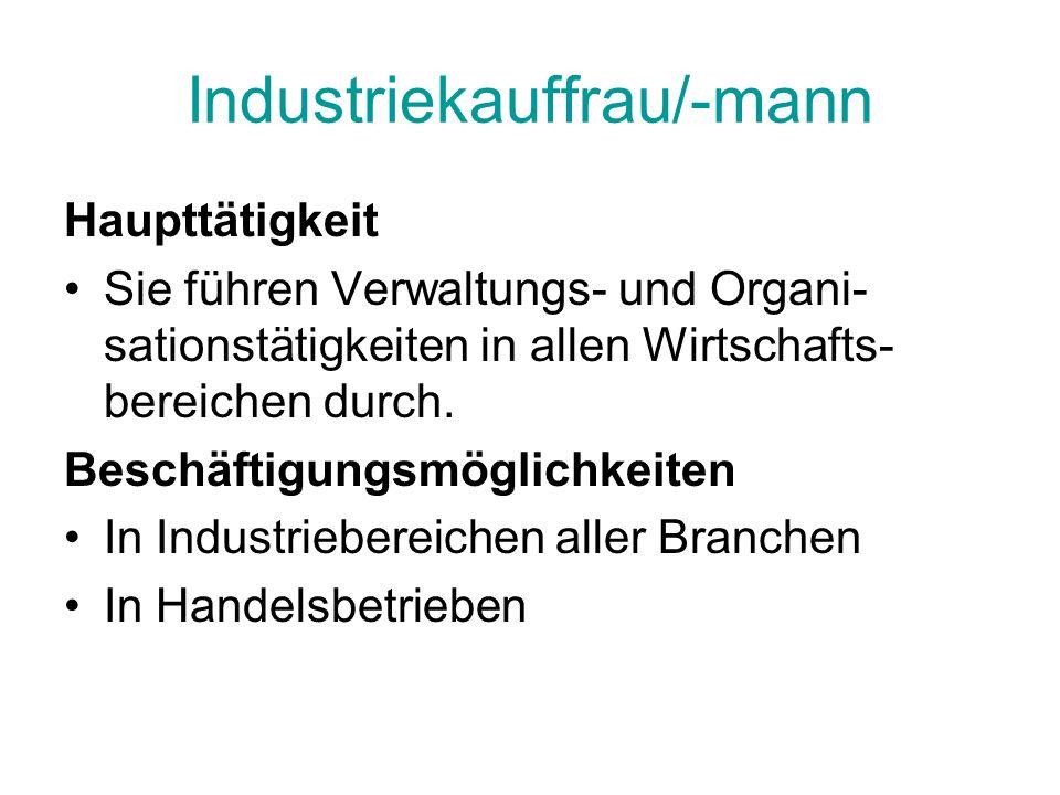 Industriekauffrau/-mann