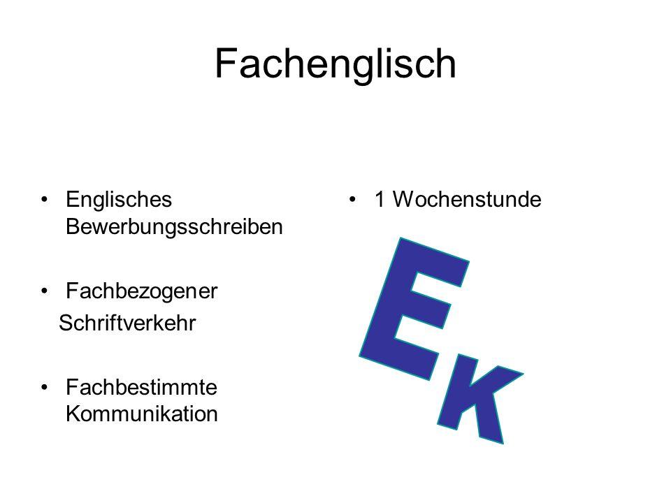 Fachenglisch E Englisches Bewerbungsschreiben Fachbezogener