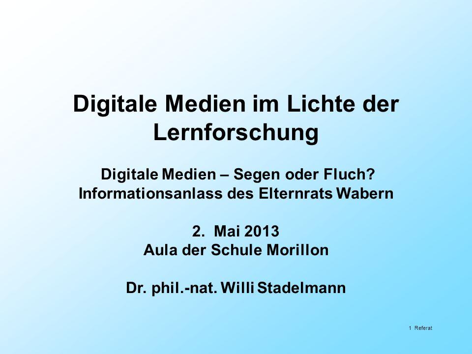 Digitale Medien im Lichte der Lernforschung