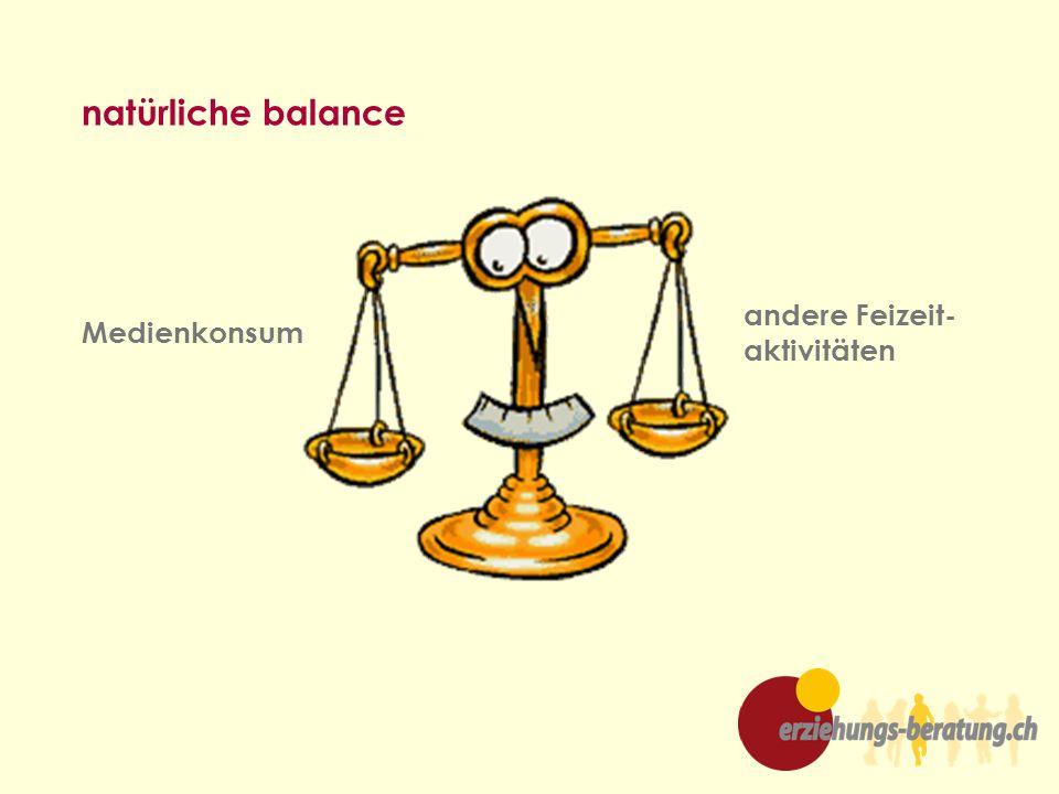natürliche balance andere Feizeit- aktivitäten Medienkonsum