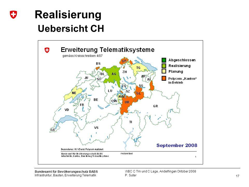 Realisierung Uebersicht CH