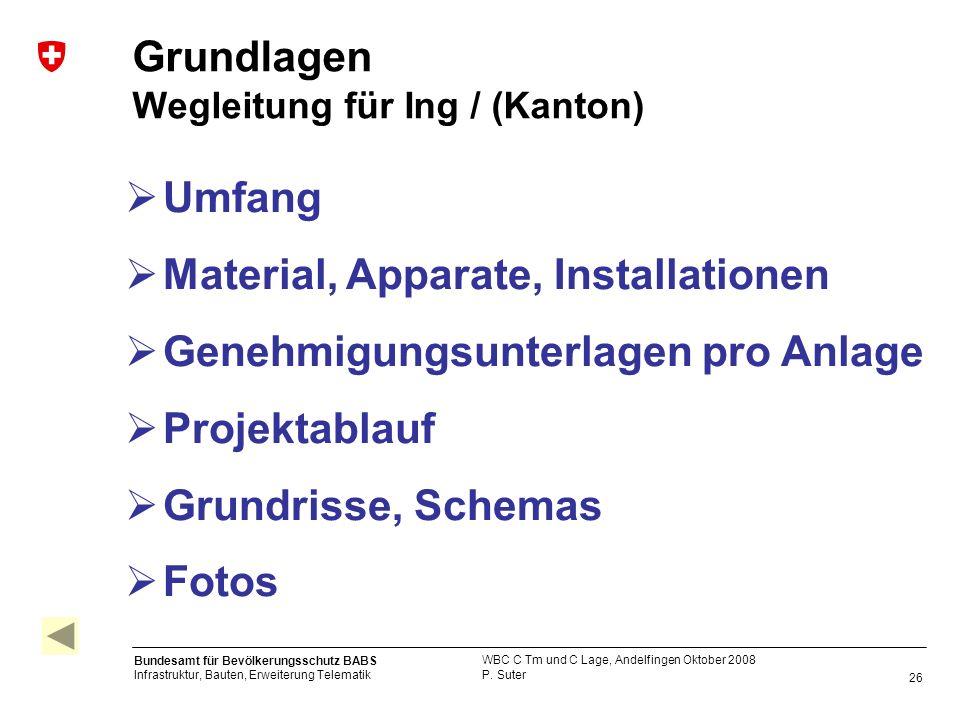 Grundlagen Wegleitung für Ing / (Kanton)