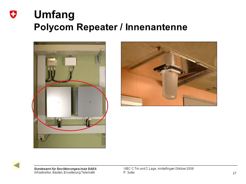 Umfang Polycom Repeater / Innenantenne