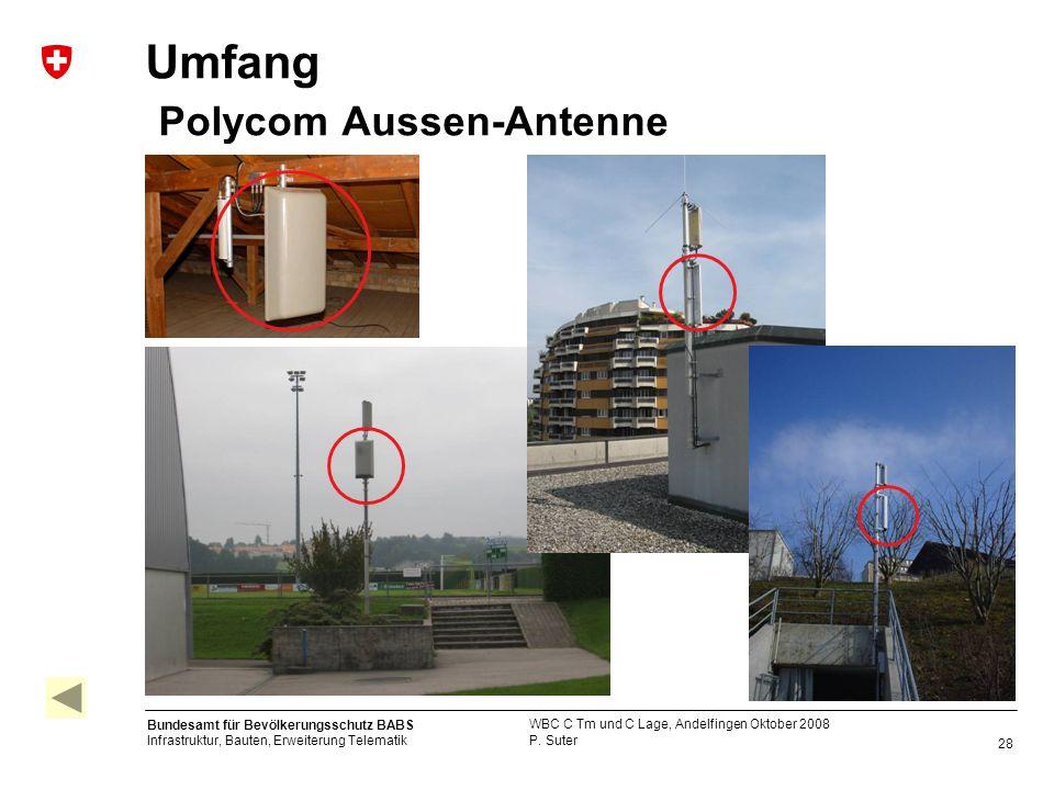 Umfang Polycom Aussen-Antenne