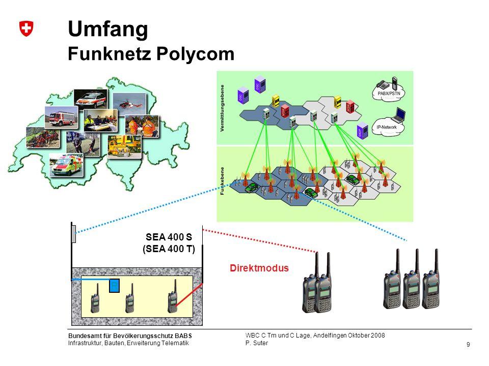 Umfang Funknetz Polycom