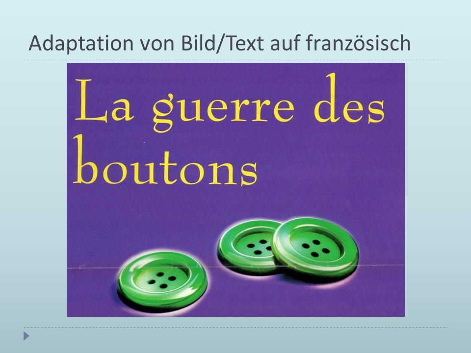 Adaptation von Bild/Text auf französisch
