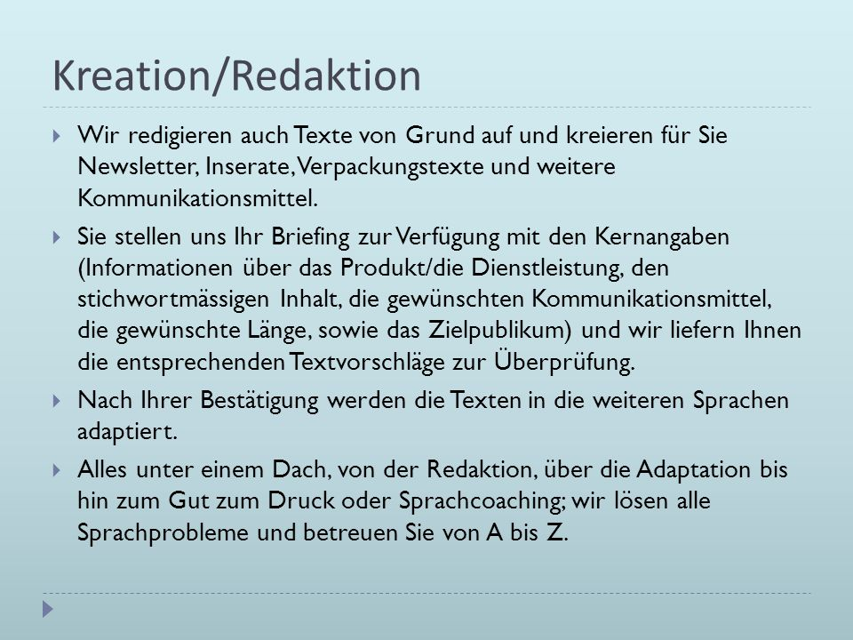 Kreation/Redaktion
