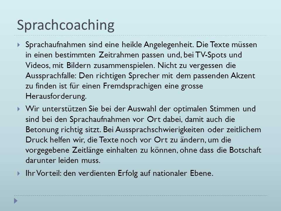 Sprachcoaching