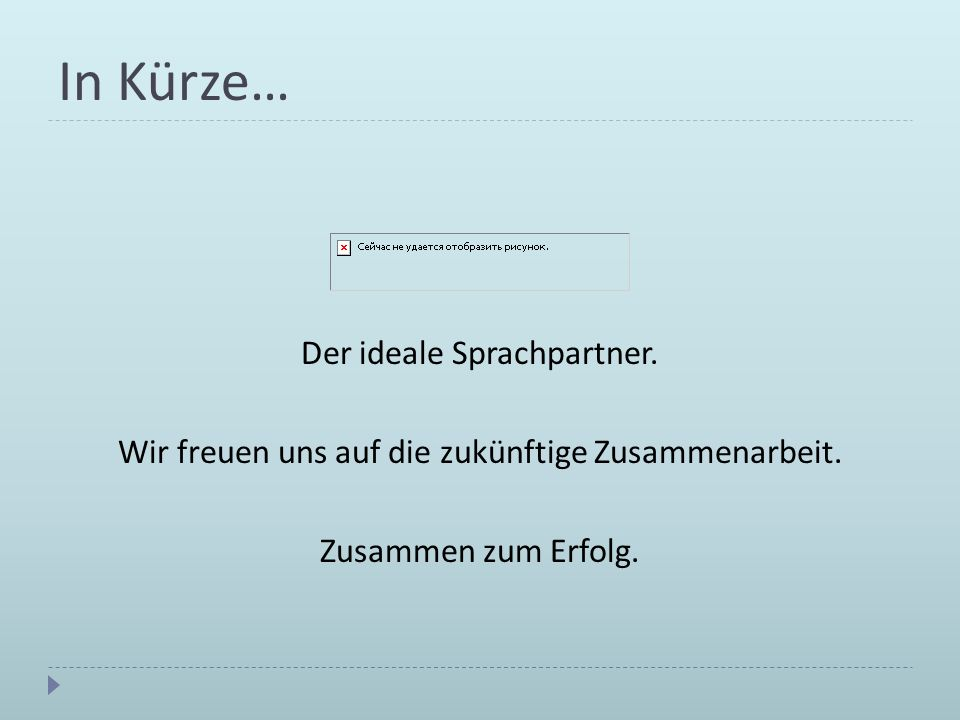 In Kürze… Der ideale Sprachpartner.