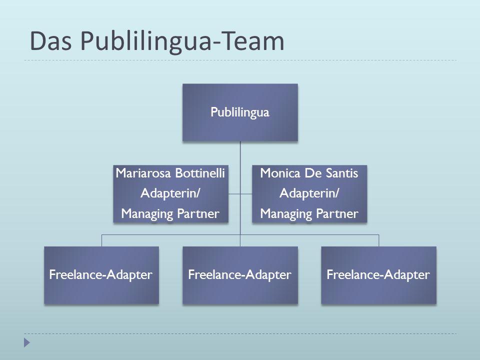 Das Publilingua-Team Publilingua Mariarosa Bottinelli Managing Partner
