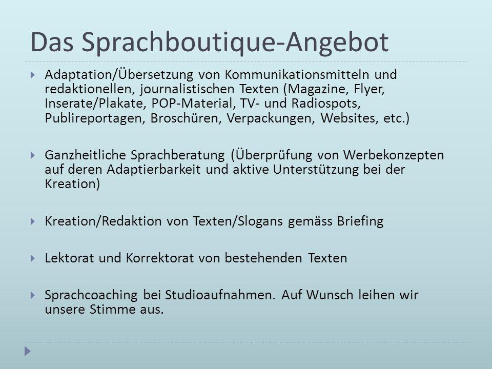 Das Sprachboutique-Angebot