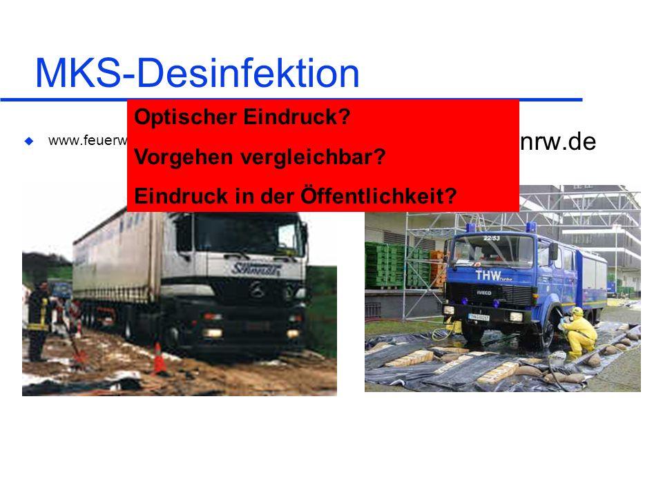 MKS-Desinfektion www.THW.nrw.de Optischer Eindruck
