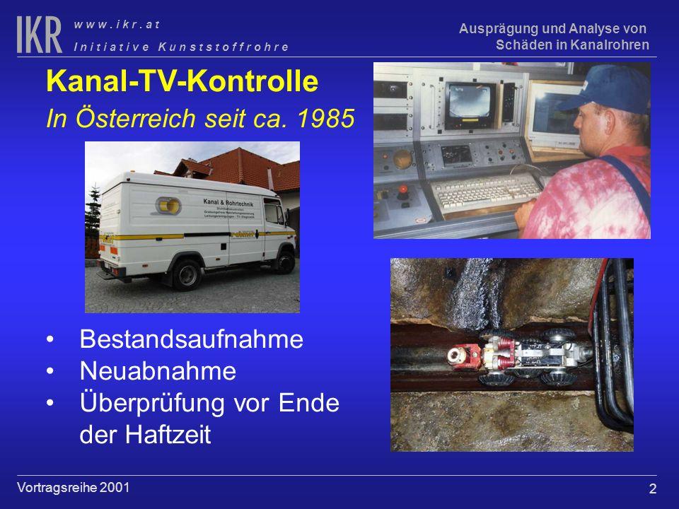 Kanal-TV-Kontrolle In Österreich seit ca. 1985 Bestandsaufnahme