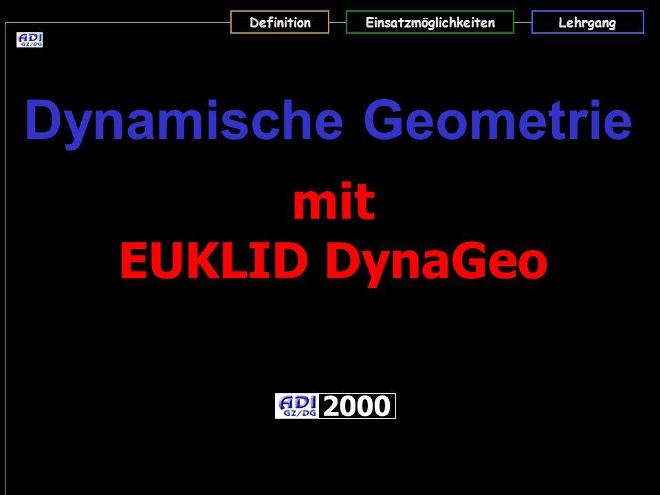 Dynamische Geometrie mit EUKLID DynaGeo 2000