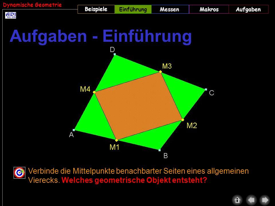 Einführung Aufgaben - Einführung. Beachte den Lösungsweg im Skriptum (DREIECK5.GEO) und DREIECK6.GEO.