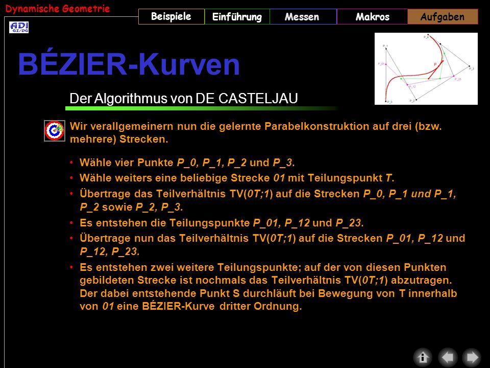 BÉZIER-Kurven Der Algorithmus von DE CASTELJAU