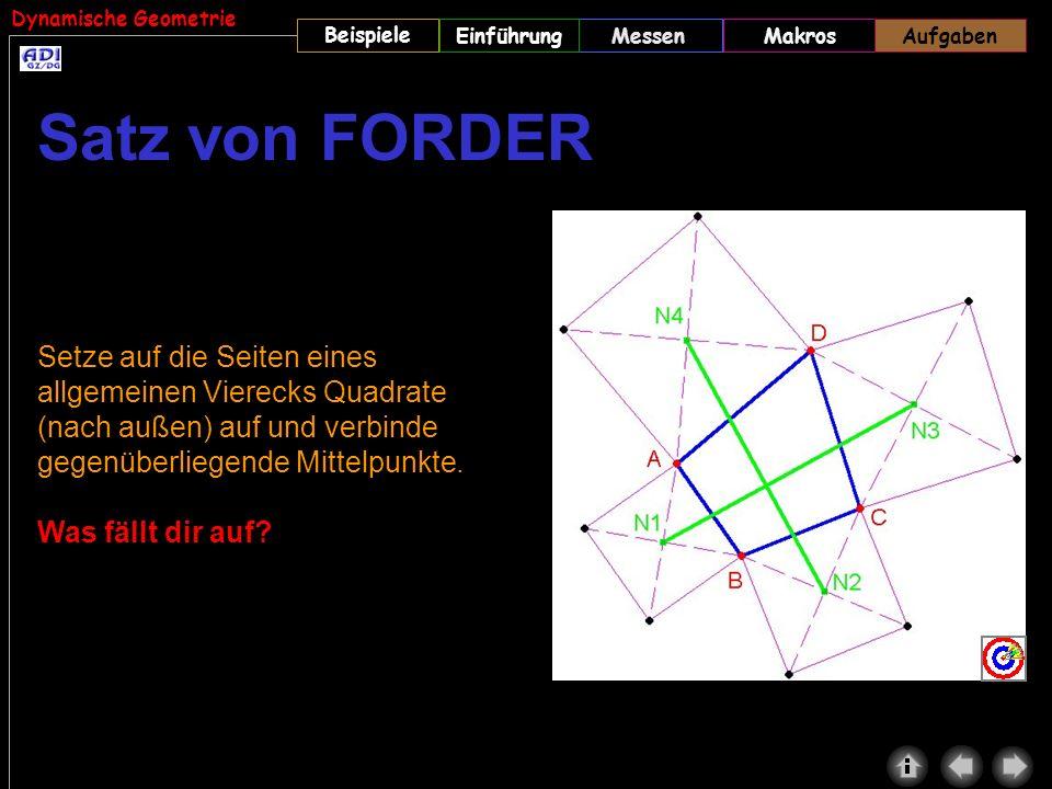 Aufgaben Satz von FORDER.