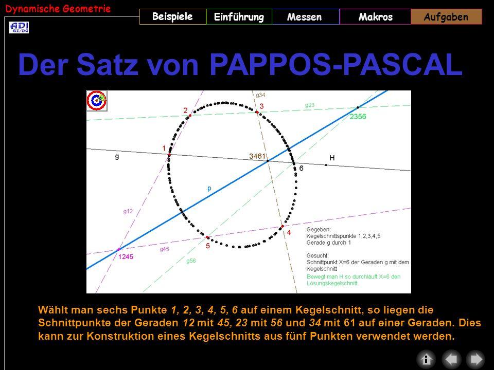 Der Satz von PAPPOS-PASCAL