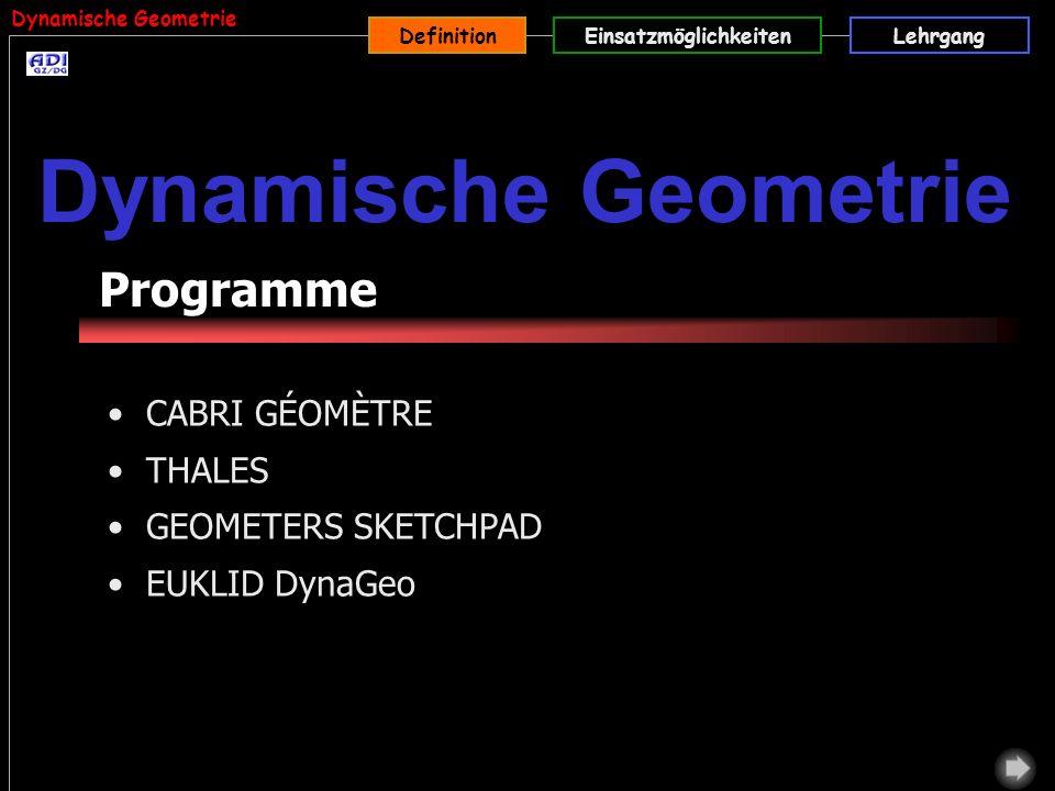 Dynamische Geometrie Programme CABRI GÉOMÈTRE THALES