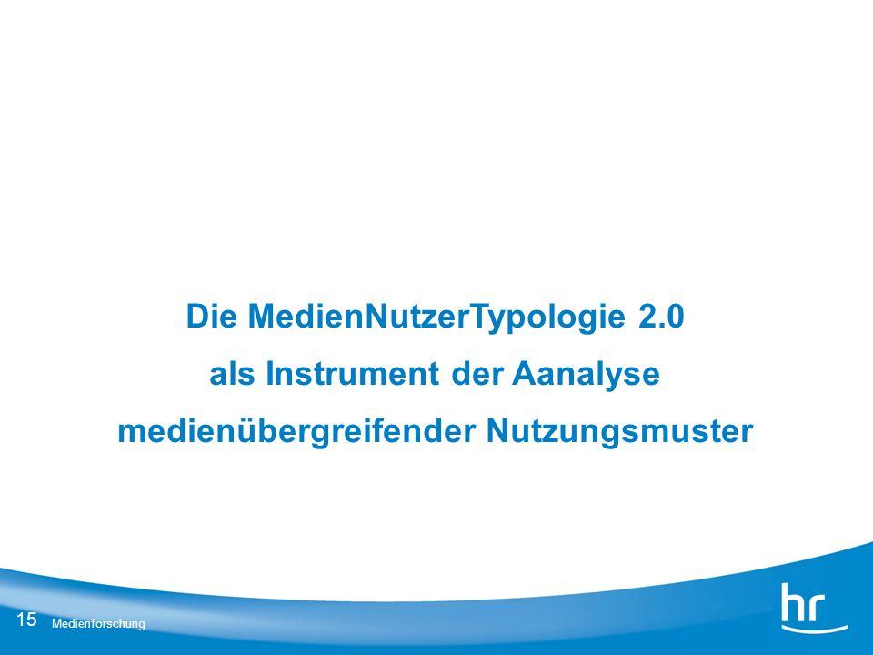 Die MedienNutzerTypologie 2.0 als Instrument der Aanalyse