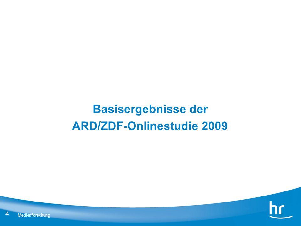 Basisergebnisse der ARD/ZDF-Onlinestudie 2009