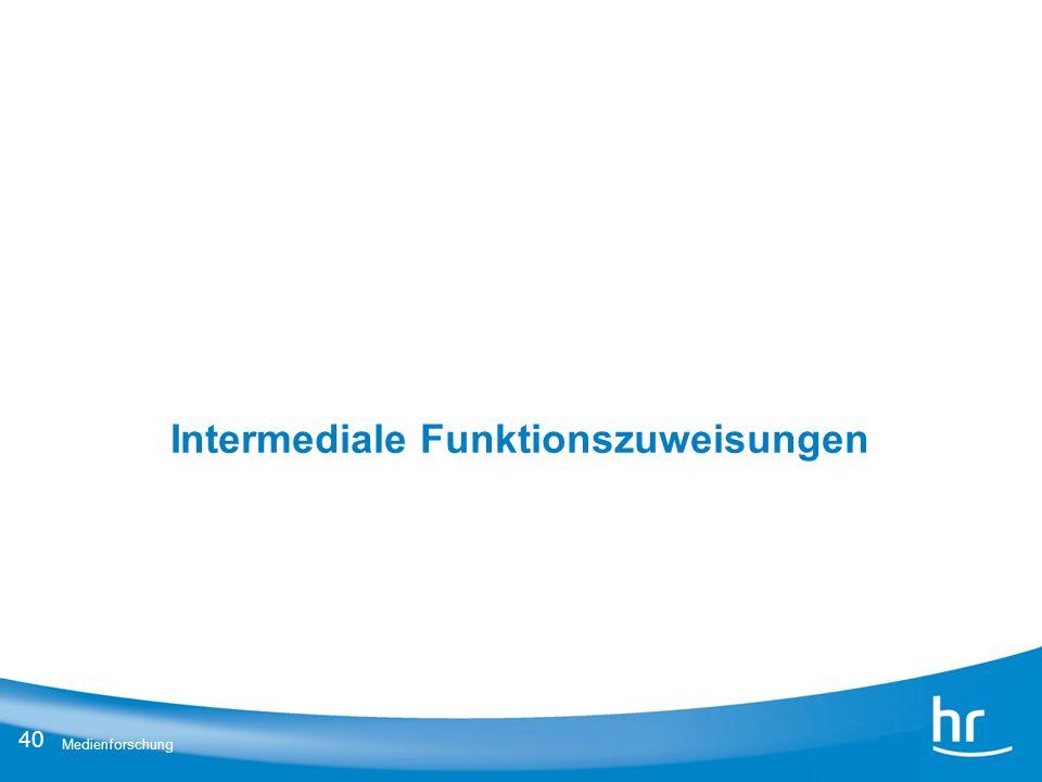 Intermediale Funktionszuweisungen