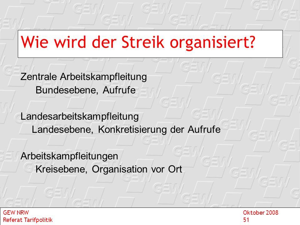 Wie wird der Streik organisiert
