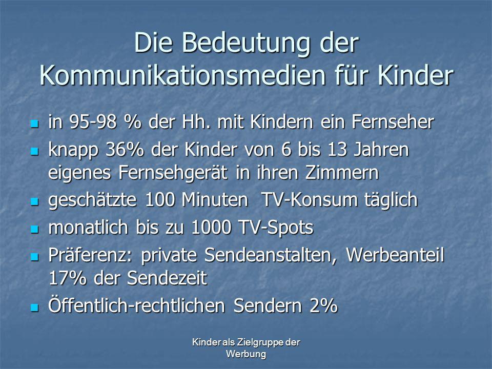 Die Bedeutung der Kommunikationsmedien für Kinder