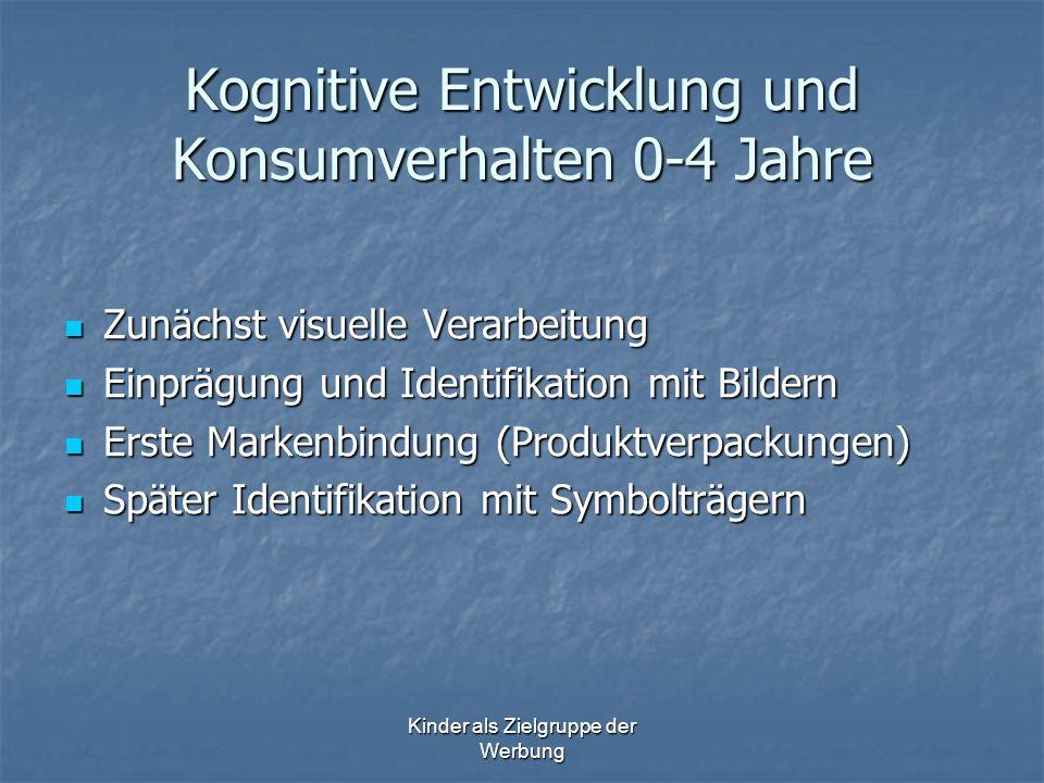 Kognitive Entwicklung und Konsumverhalten 0-4 Jahre