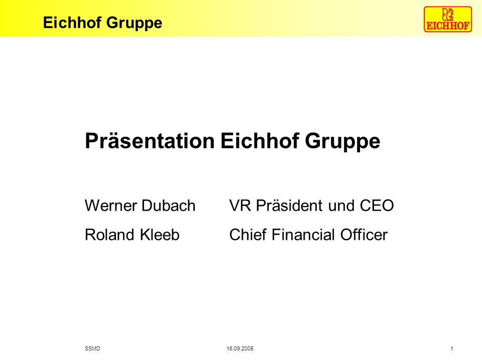 Präsentation Eichhof Gruppe