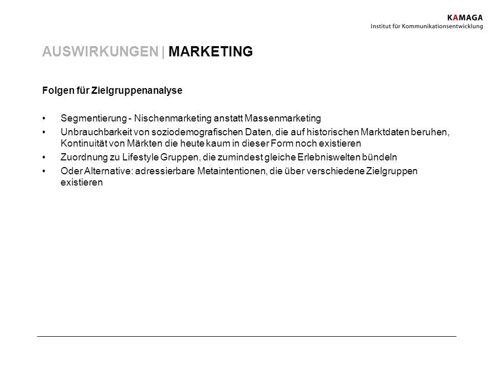 AUSWIRKUNGEN | MARKETING