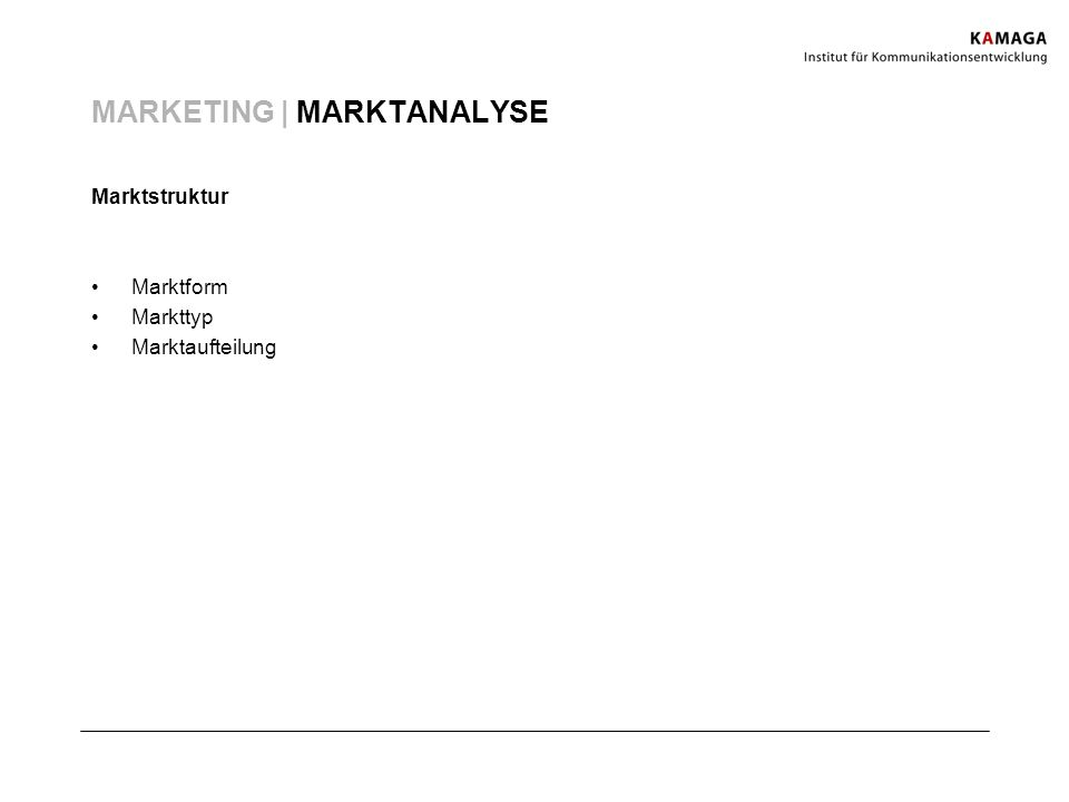 MARKETING | MARKTANALYSE