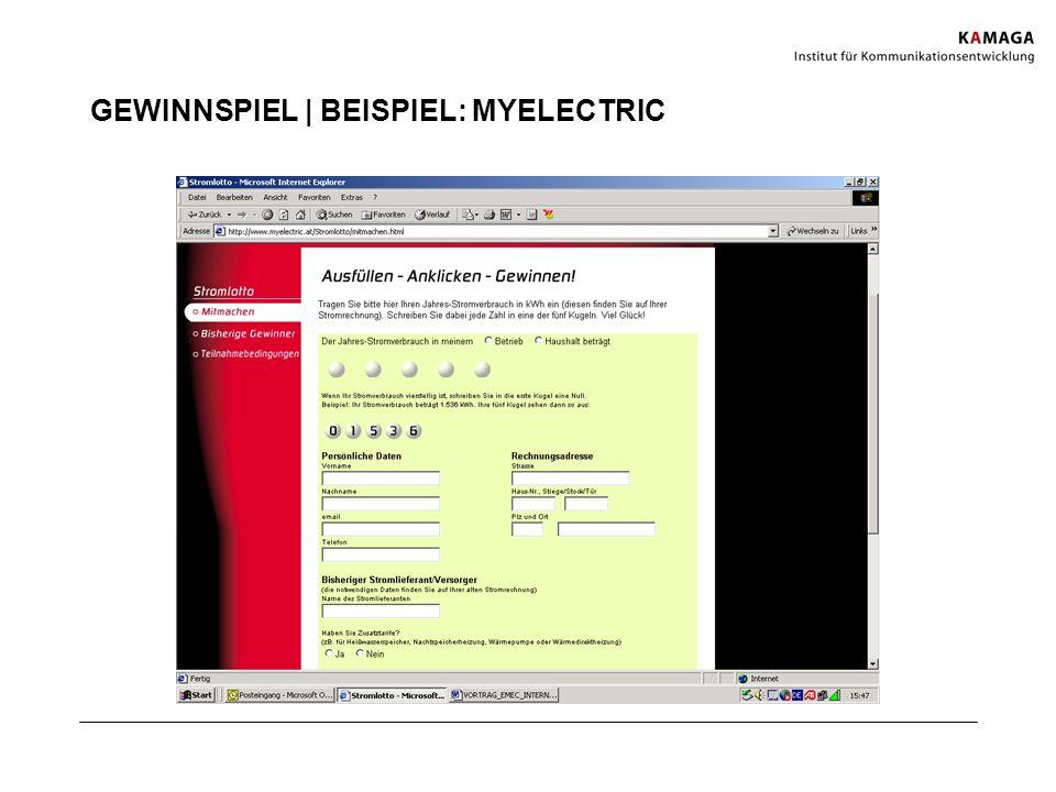 GEWINNSPIEL | BEISPIEL: MYELECTRIC