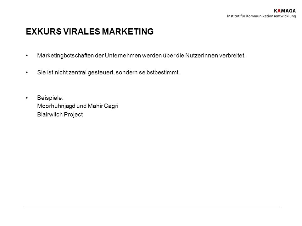 EXKURS VIRALES MARKETING
