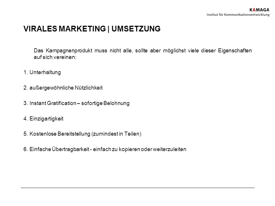VIRALES MARKETING | UMSETZUNG