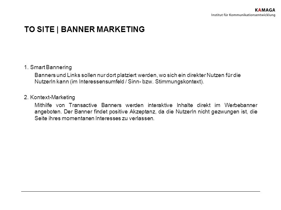 TO SITE | BANNER MARKETING