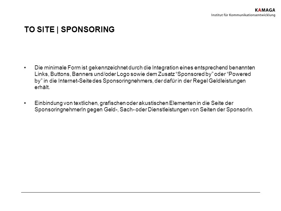 TO SITE | SPONSORING