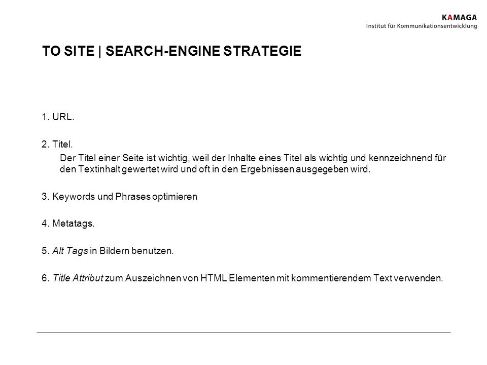 TO SITE | SEARCH-ENGINE STRATEGIE