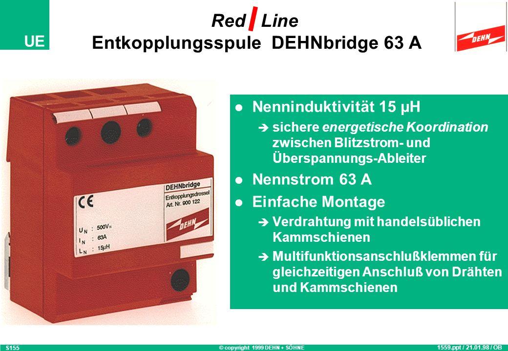 Red Line Entkopplungsspule DEHNbridge 63 A
