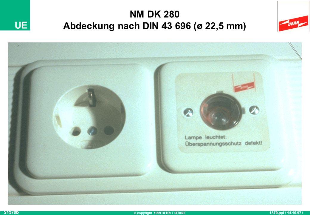 NM DK 280 Abdeckung nach DIN 43 696 (ø 22,5 mm)