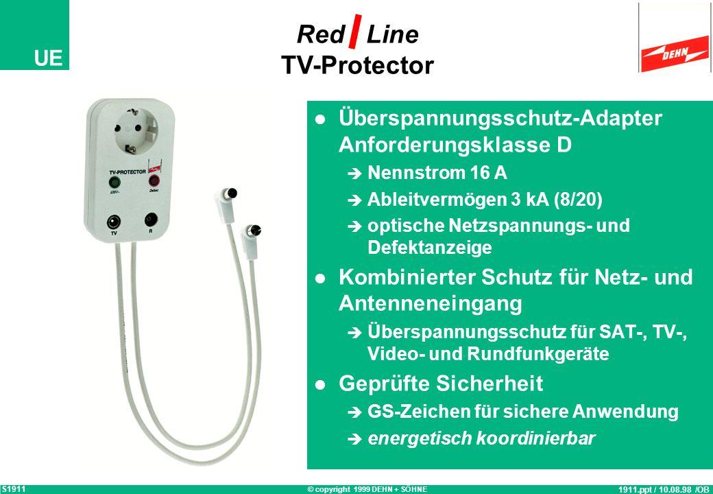 Red Line TV-Protector Überspannungsschutz-Adapter Anforderungsklasse D