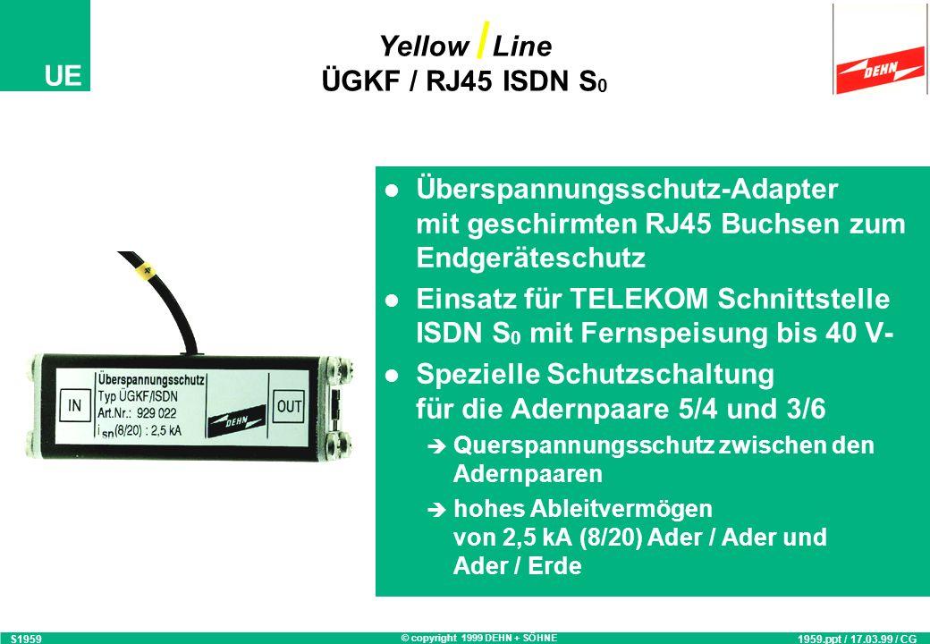 Yellow Line ÜGKF / RJ45 ISDN S0