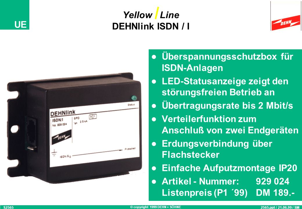 Yellow Line DEHNlink ISDN / I