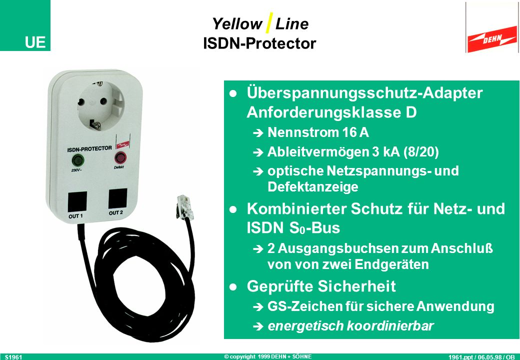 Yellow Line ISDN-Protector