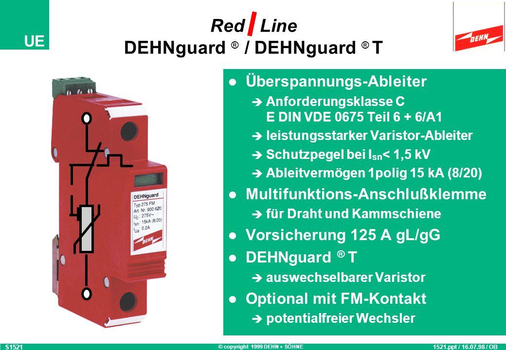 Red Line DEHNguard ® / DEHNguard ® T