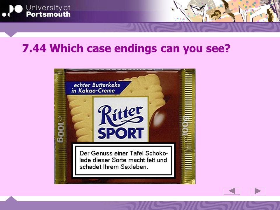 7.44 Which case endings can you see