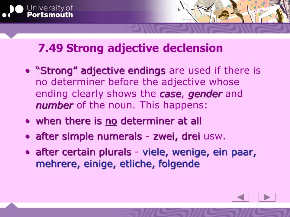7.49 Strong adjective declension