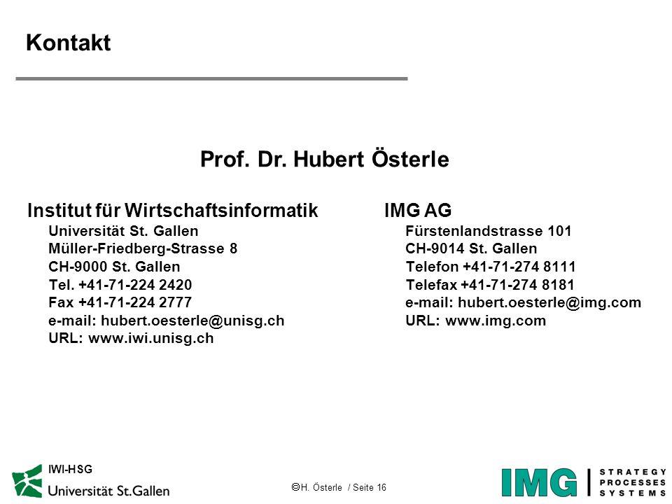 Kontakt Prof. Dr. Hubert Österle